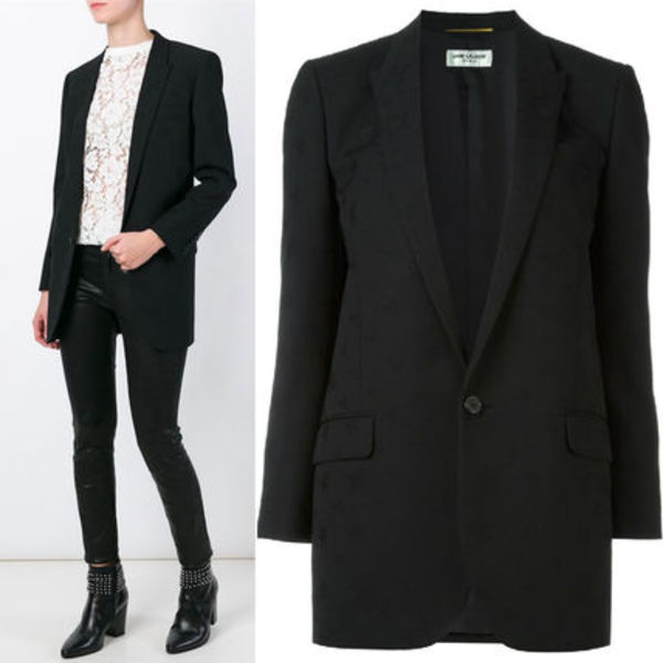 16SS WSL824 STAR JACQUARD SINGLE BREASTED JACKET