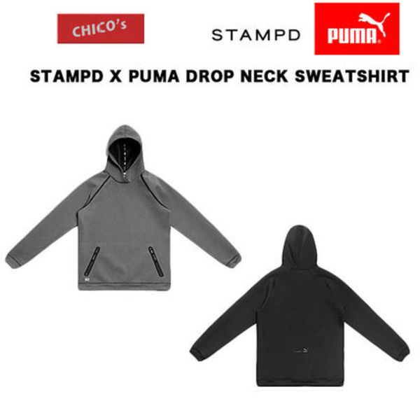 STAMPD X PUMA DROP NECK SWEATSHIRT コラボ パーカー