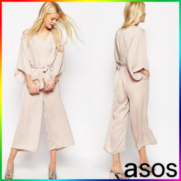 ASOS Belted Jumpsuit with Kimono Sleeve 関税/送料込