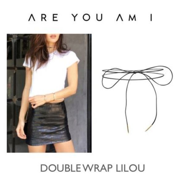 【ARE YOU AM I】Double Wrap コードチョーカー Lilou★2カラー