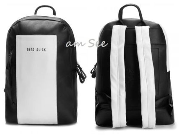 【CAYLER & SONS】BL TRES SLICK BACKPACK 黒×白バイカラー