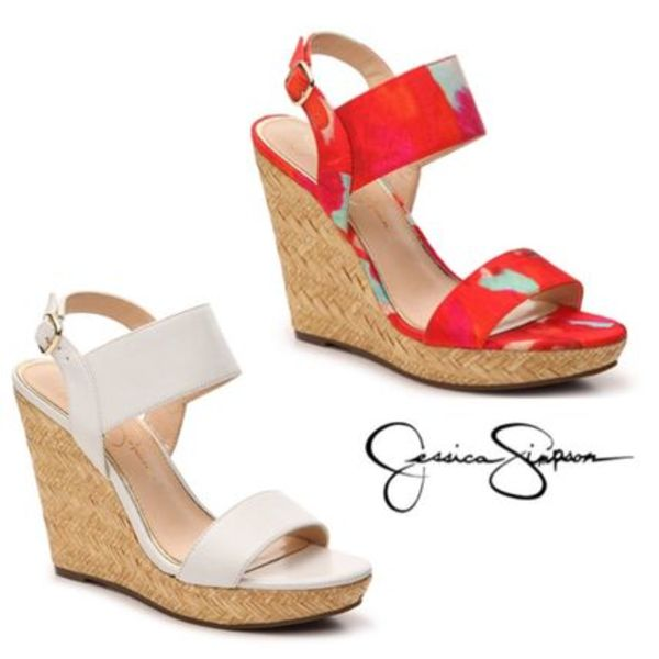 Sale★【Jessica Simpson】サンダル★Jeisha Leather Wedge