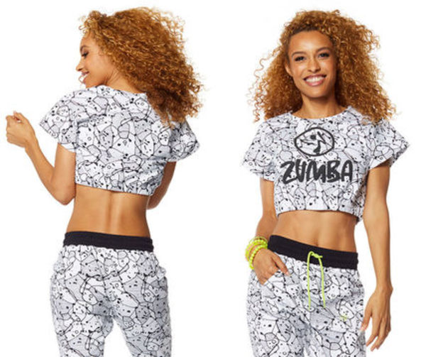 6新作/ZUMBA/ズンバ/Be Bold Bubble Crop Top-White