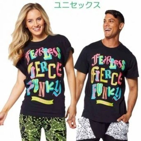 ★国内在庫★ Zumba Fearless Tee Back to Black ユニセックス