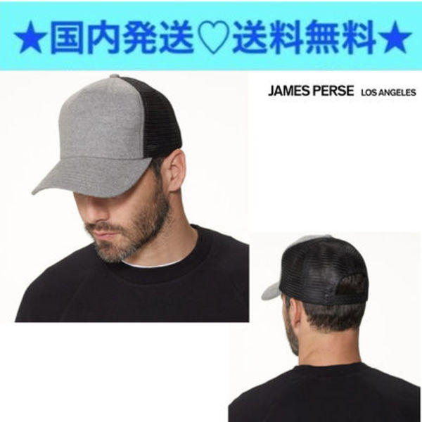 ★JAMES PERSE★コットン FLANNEL TRUCKER HAT