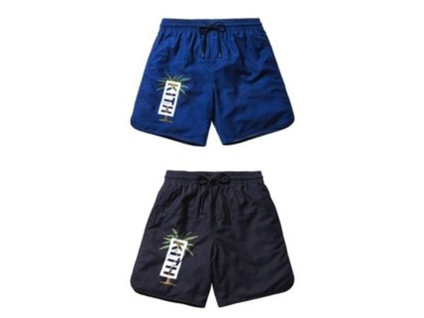 関税無料 新作 Kith Rockaway Palm Swim Trunk