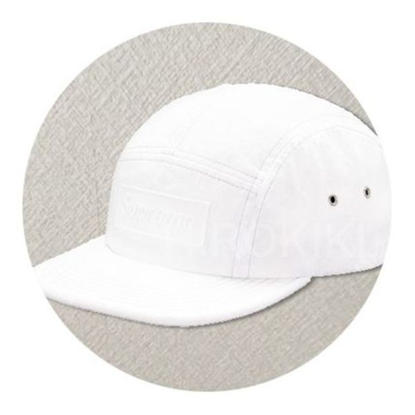 【送料込】16SS★Supreme Embossed Washed Camp Cap キャップ 白