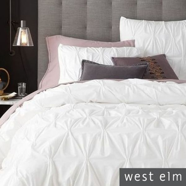west elm ベットリネン3点セット WH 国内発(関税込・追跡付)