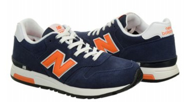 New Balance Classics ML565 Navy/Orange メンズ