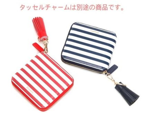 [Fennec]STRIPE ZIPPER WALLET  二つ折り財布 (2色)