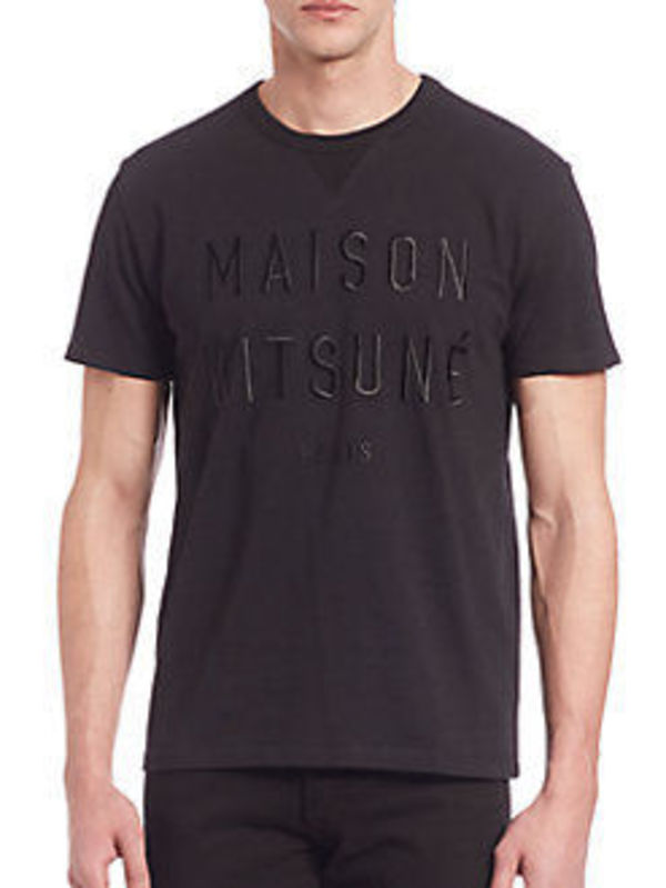 MAISON KITSUNE/Embroidered T-Shirt★ロゴTシャツ★人気