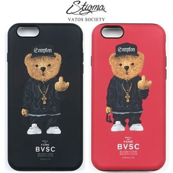 国内発送◆STIGMAスティグマ COMPTON BEAR iPhone6s/6s plus/BK