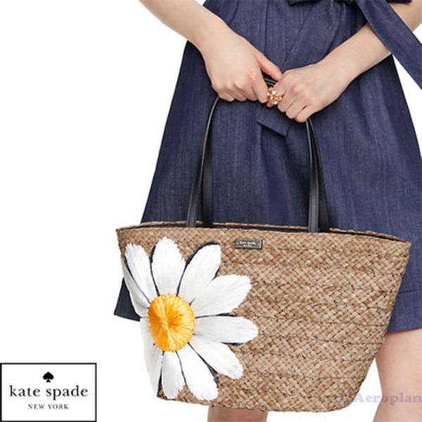 ★最新作★down the rabbit hole straw daisy tote トートバッグ