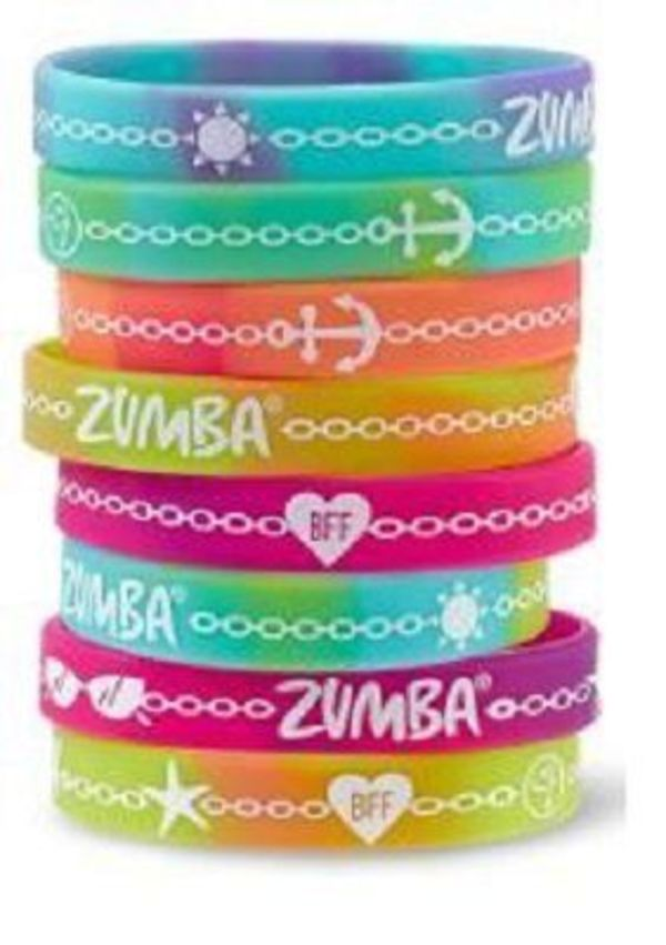 即納 ズンバ Cruise Anchors Away Rubber Bracelets 8本セット