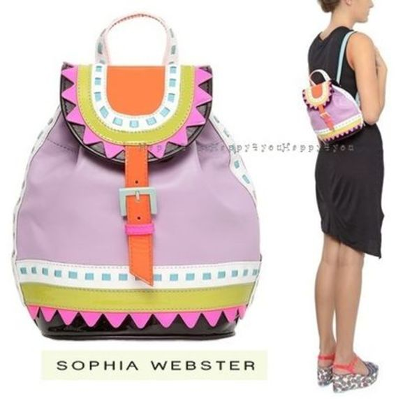 SOPHIA WEBSTER ZIGGY ORCHID LEATHER BACKPACK