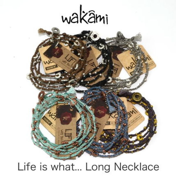 wakami「Life is what... 」5連ラップブレスレット/ネックレス