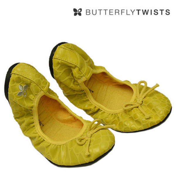 BUTTERFLY TWISTS 折りたためるバレリーナシューズ♪ イエロー