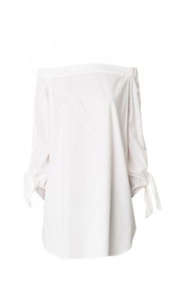 セレブ愛用☆Satin Poplin Off-the-Shoulder Tunic