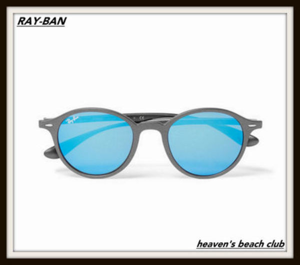 関送込 海外限定 Ray-Ban【 Round-Frame Mirrored Sunglasses】