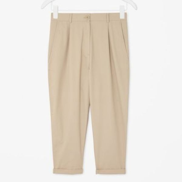 """COS""LOOSE-FIT COTTON CHINOS BISCUIT"