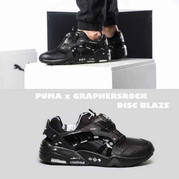 PUMA×GRAPHERSROCK DISC BLAZE★コラボ★兼用★22~29cm★黒