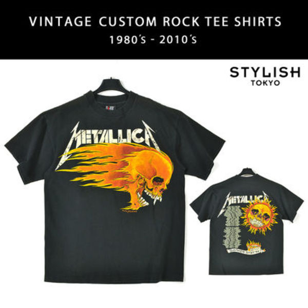 METALLICA/FLAMING SUN PUSHEAD ロックバンド TシャツL