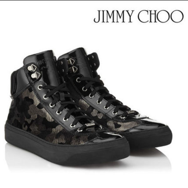 2016AW♪新作★Jimmy Choo Argyle sneakers★グリッターカモフラ