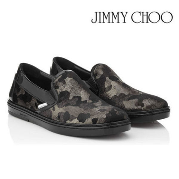2016AW♪新作★Jimmy Choo Grove slip-on sneakers ★カモフラ