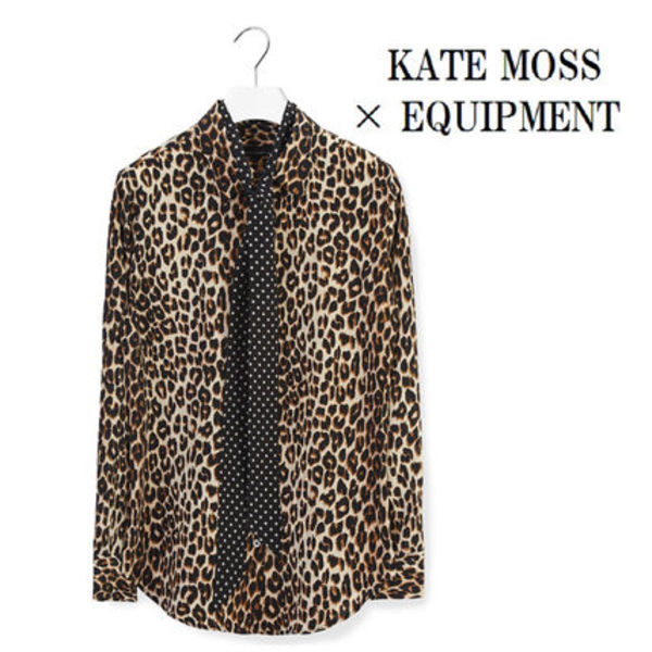 ☆Kate Moss For Equipment☆SLIM SIGNATURE レオパードシャツ