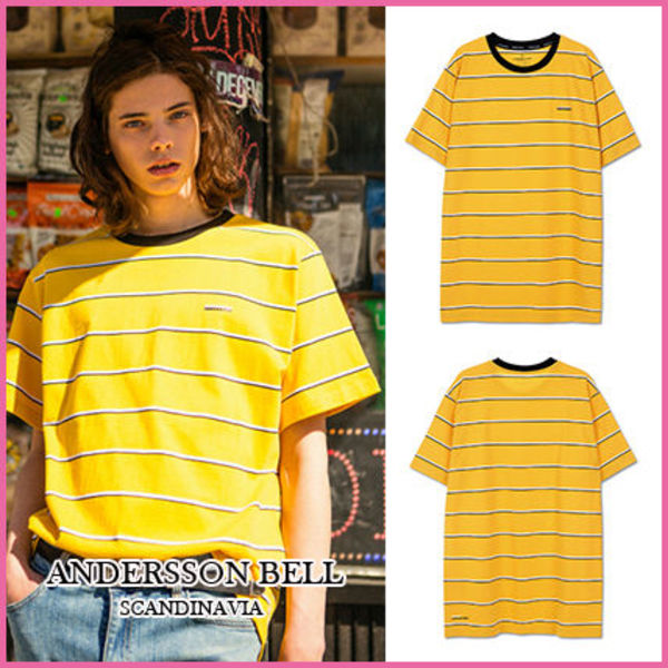 【ANDERSSON BELL】正規品★UNISEXボーダーTシャツYELLOW/追跡付