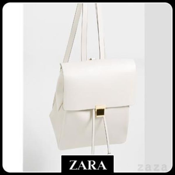 ☆★ZARA ザラ TRF★☆  BACKPACK WITH METALLIC FASTENING