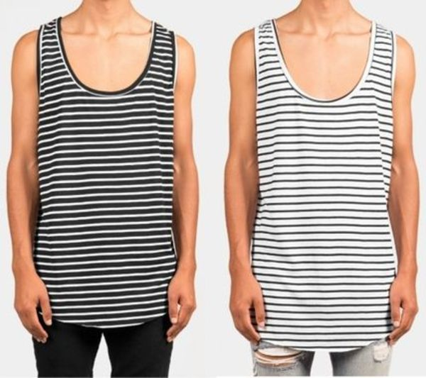 LA発!mnml STRIPED SCOOP TANK タンクトップ