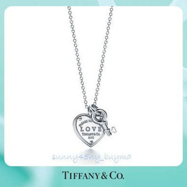 RETURN TO TIFFANY ★ Love Heart Tag Key Pendant