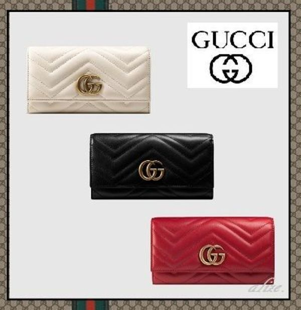 【2016AW最新作!!】GUCCI★GG Marmont コンチネンタルウォレット