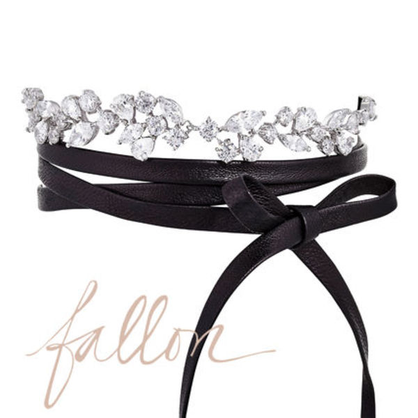 Fallon  MONARCH FLORETTE CHOKER レザー CZ チョーカー 人気
