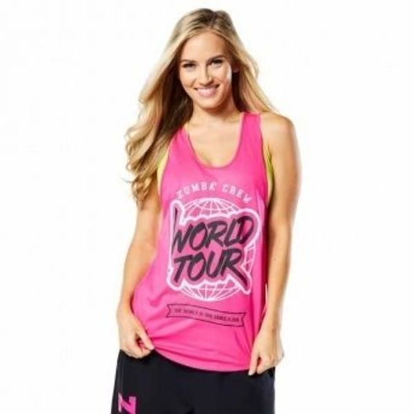 ★国内在庫★ 【ズンバ】 Zumba World Tour Loose Tank Pink