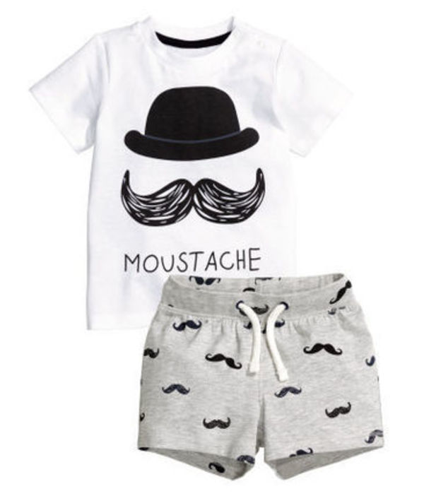 H&M Baby ☆T-shirt and shorts♪