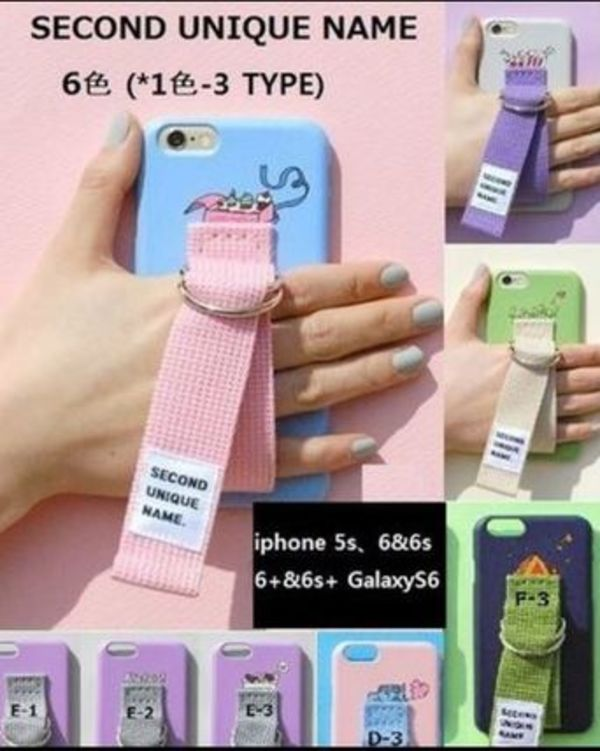 [SECOND UNIQUE NAME] モバイルケース 6色x3Type★ iphone case