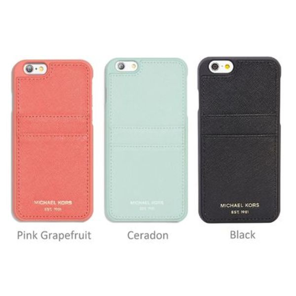マイケルコース iPhone 6 Leather Pocket Smartphone Case