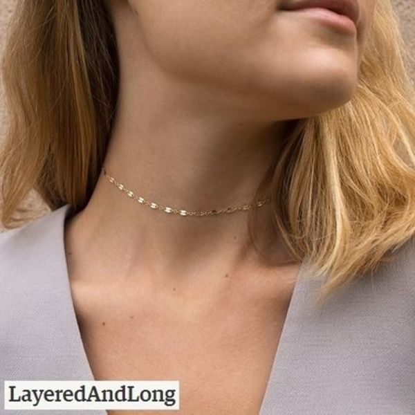 送税込【Layered And Long】★Chain Lace Choker Necklace