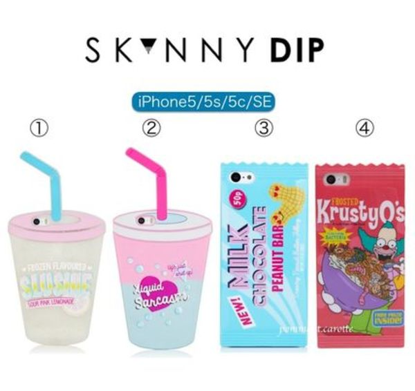 大人気【日本未入荷】SKINNYDIP iPhone5/5s/SE★JUICE&SNACKS★