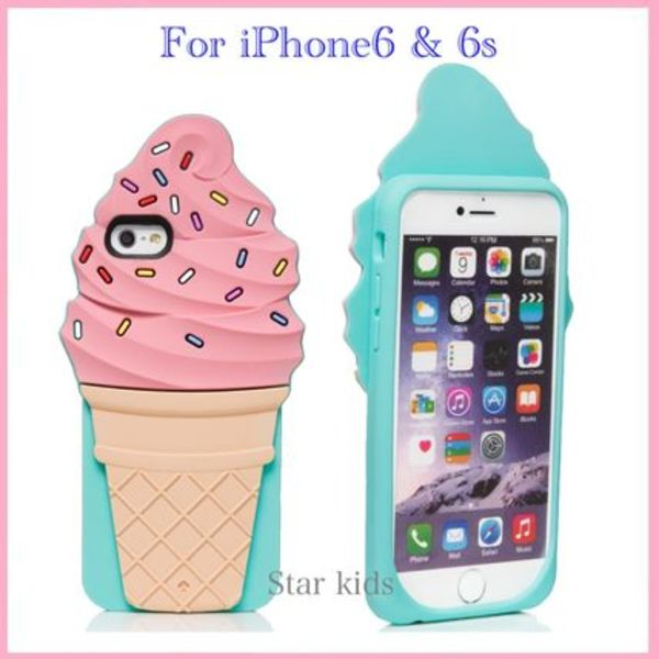 iPhone6/6s★kate spade★ice cream cone スマホケース アイス♪