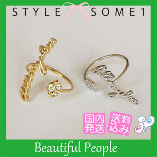 "【STYLESOME1】 ""All my love"" リング ★ 2色"