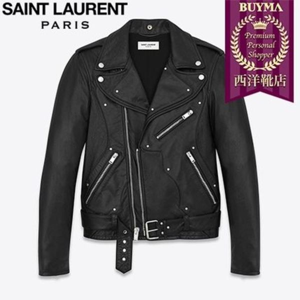 SAINT LAURENT 16AW┃GUITAR LEATHER JACKET BLACK LEATHER