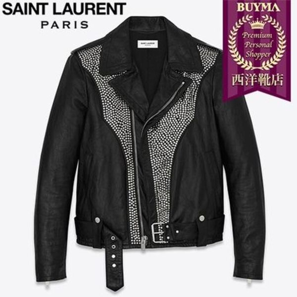 SAINT LAURENT 16AW┃WESTERN STUDDED MOTORCYCLE JACKET ┃