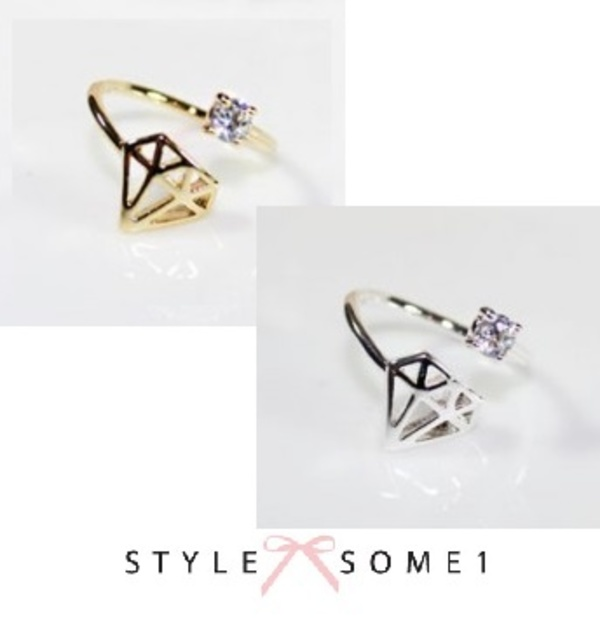 新作♪♪送・税込★STYLESOME1★Diamond Shape Wire Ring