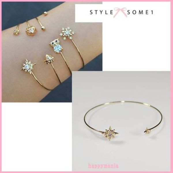 中村アン愛用♪STYLESOME1★Snow Flake Double Side Bangle