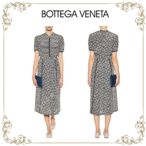 【滝沢眞規子さん愛用】★BOTTEGA VENETA★Printed silk dress