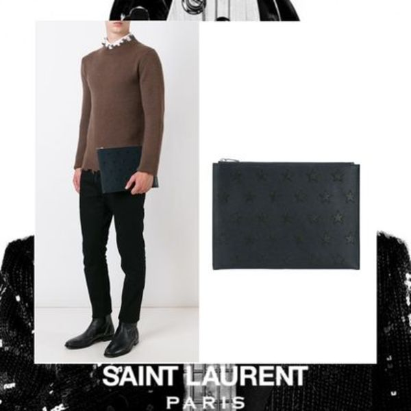 ★16-17AW 新作 SAINT LAURENT  RiderCalifornia クラッチバッグ