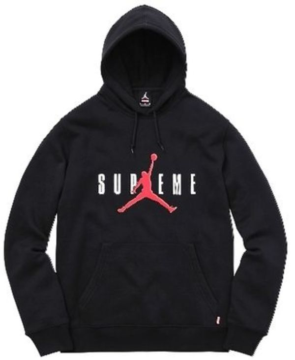 黒 Lサイズ Supreme Jordan Hooded Sweatshirt パーカー box